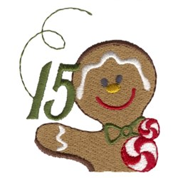 Gingerbread Man 15 embroidery design