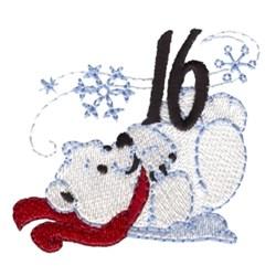 Polar Bear 16 embroidery design
