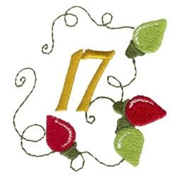 Christmas Lights 17 embroidery design