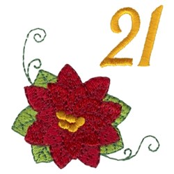 Poinsettia 21 embroidery design