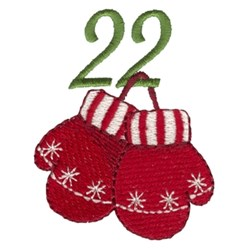 Holiday Mittens 22 embroidery design