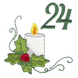 Christmas Candle 24 embroidery design