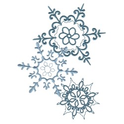 Crystal Snowflakes embroidery design