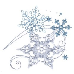 Crystalline Snowflakes embroidery design