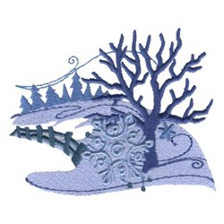 Winter Trees embroidery design