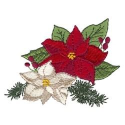 Bright Poinsettias embroidery design