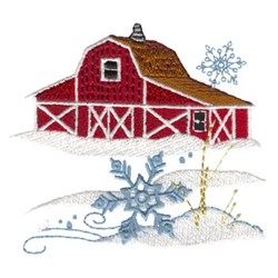 Country Winter Scene embroidery design