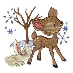 Winter Wonder Friends embroidery design