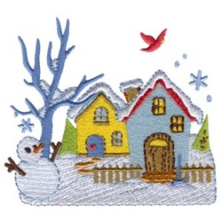 Cozy Winter House embroidery design