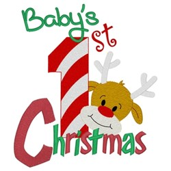 Baby 1st Christmas embroidery design