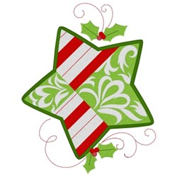 Chrismas Star embroidery design