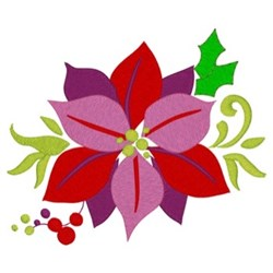 Christmas Poinsettias embroidery design