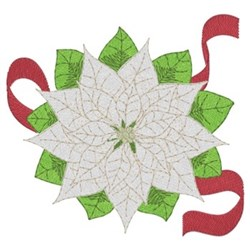 Christmas White Poinsettias embroidery design
