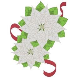 White Poinsettias Border embroidery design