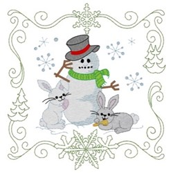 Christmas Friends Quilt Square embroidery design