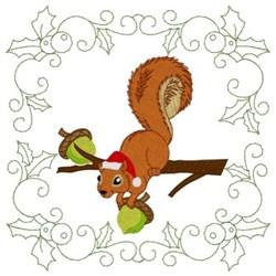 Squirrel Quilt Square embroidery design