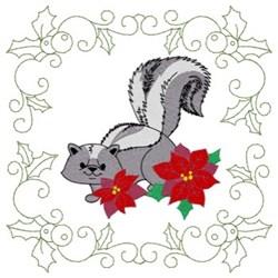 Skunk Quilt Square embroidery design