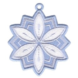 Snowflake Petal Ornament embroidery design