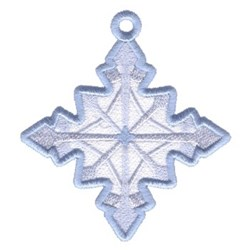 Snowflake Diamond Ornament embroidery design