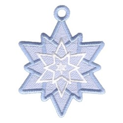 Snowflake Star Ornament embroidery design