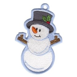 Snowman Ornament embroidery design