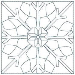Snowflake Quilt Squares embroidery design