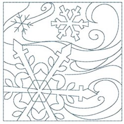 Snowflakes Quilt embroidery design