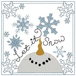Let It Snow Quilt Square embroidery design