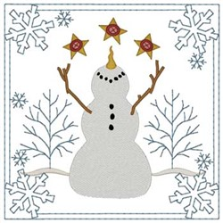 Snowman Quilt Square embroidery design