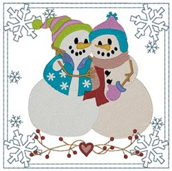 Snow Friends Quilt Square embroidery design