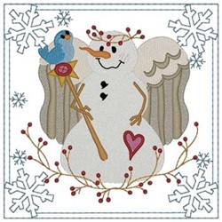 Snow Angel Quilt Square embroidery design