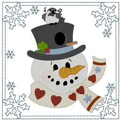 Snowman Birdhouse embroidery design