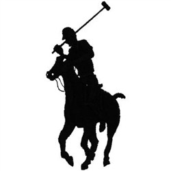 Polo Player embroidery design