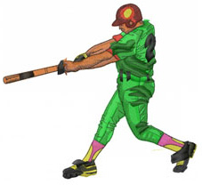 HITTER NO.2 embroidery design