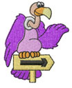HITCH-HIKING BUZZARD embroidery design