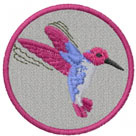 HUMMINGBIRD PATCH embroidery design