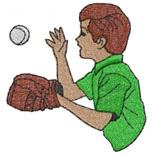 BASEBALL CATCH embroidery design