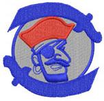 PIRATE CREST embroidery design