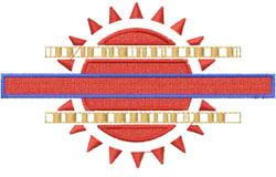 Sun Crest embroidery design