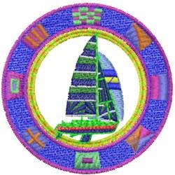 Boat Logo embroidery design