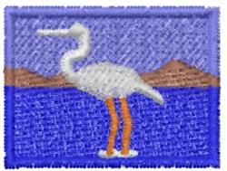 White Crane embroidery design
