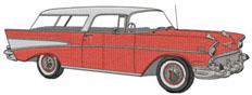 1957 NOMAD embroidery design