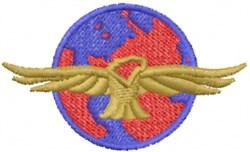 Eagle Earth embroidery design