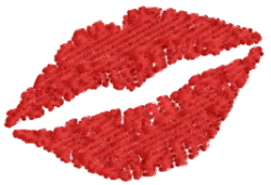 Kissing Lips embroidery design