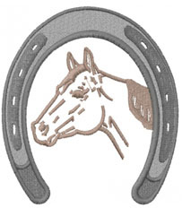 horseshoe frame embroidery design