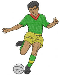 SOCCER PLAYER embroidery design