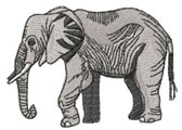 ELEPHANT (SMALL) embroidery design