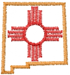 New Mexico embroidery design