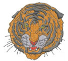 BENGAL TIGER FACE embroidery design