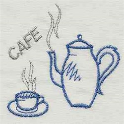 Cafe embroidery design